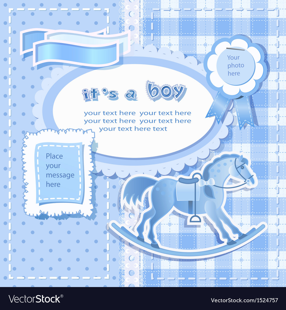 Baby shower for boy vector | Price: 3 Credit (USD $3)