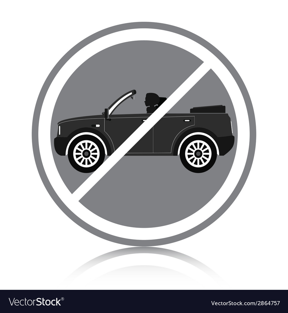 Car ban vector | Price: 1 Credit (USD $1)
