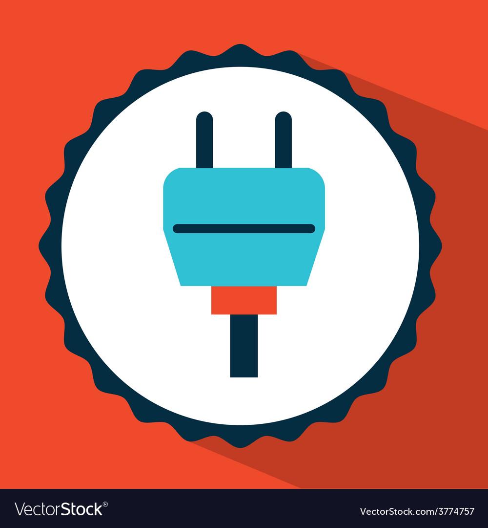 Connector icon design vector | Price: 1 Credit (USD $1)