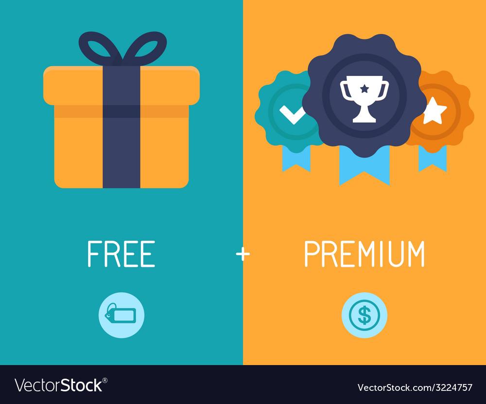 Freemium business model vector | Price: 1 Credit (USD $1)