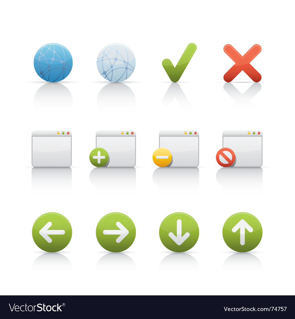Icon set internet and communications vector | Price: 1 Credit (USD $1)