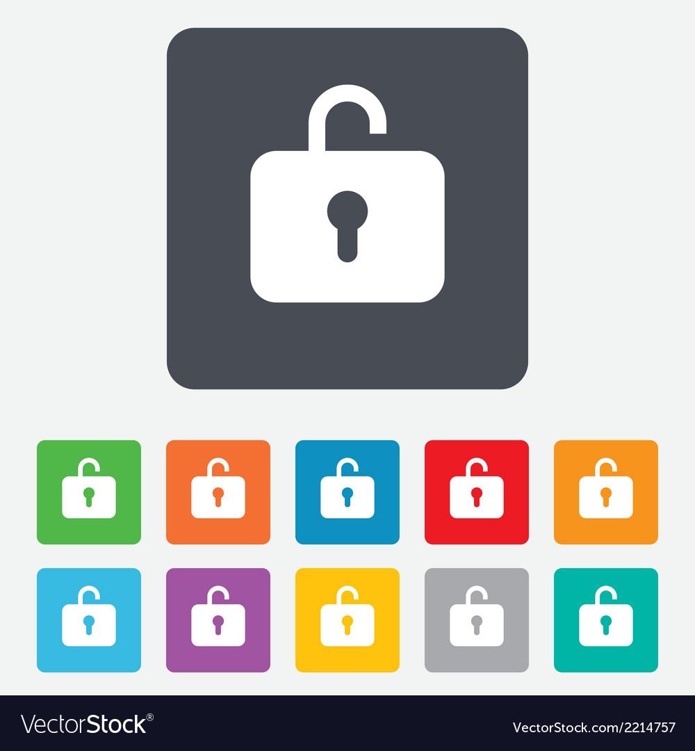 Lock sign icon login symbol vector | Price: 1 Credit (USD $1)