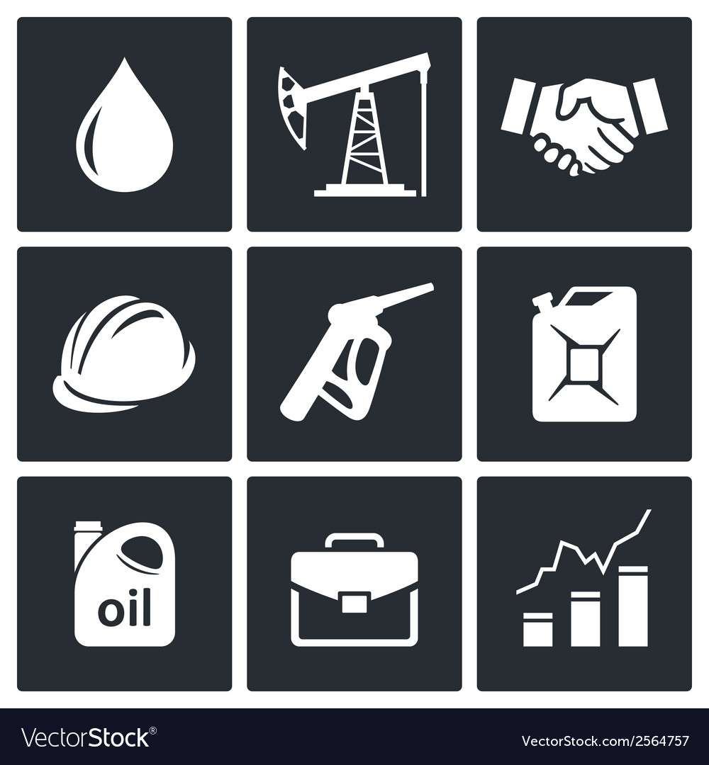 Petroleum industry icon collection vector | Price: 1 Credit (USD $1)
