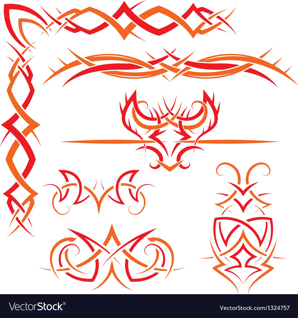 Set of gothic patterns vector | Price: 1 Credit (USD $1)