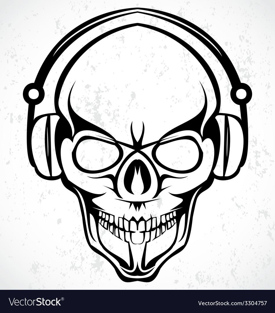 Tribal dj skulls vector | Price: 1 Credit (USD $1)