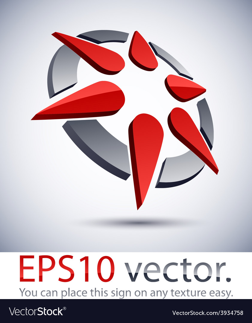 3d modern star logo icon vector | Price: 1 Credit (USD $1)