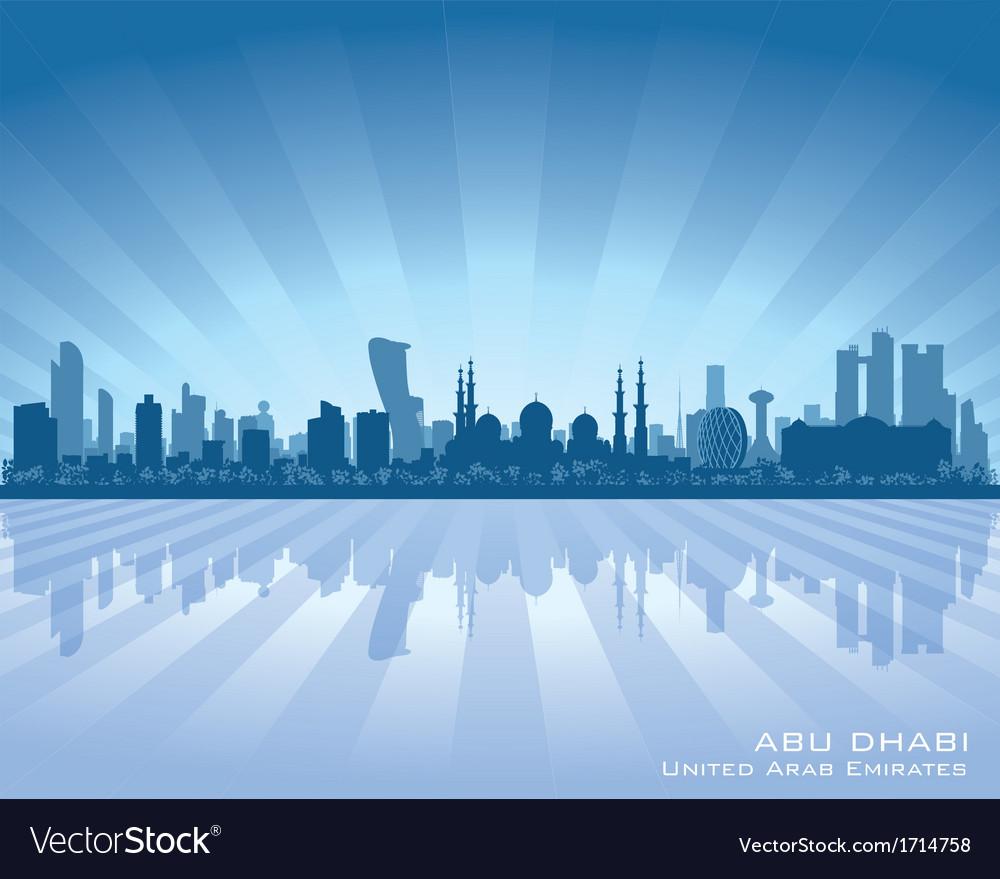 Abu dhabi uae city skyline silhouette vector | Price: 1 Credit (USD $1)