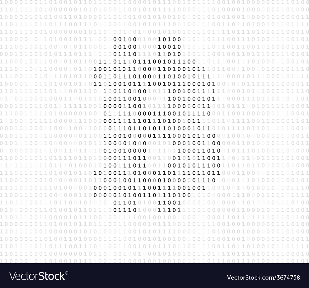 Bitcoin symbol binary code vector | Price: 1 Credit (USD $1)