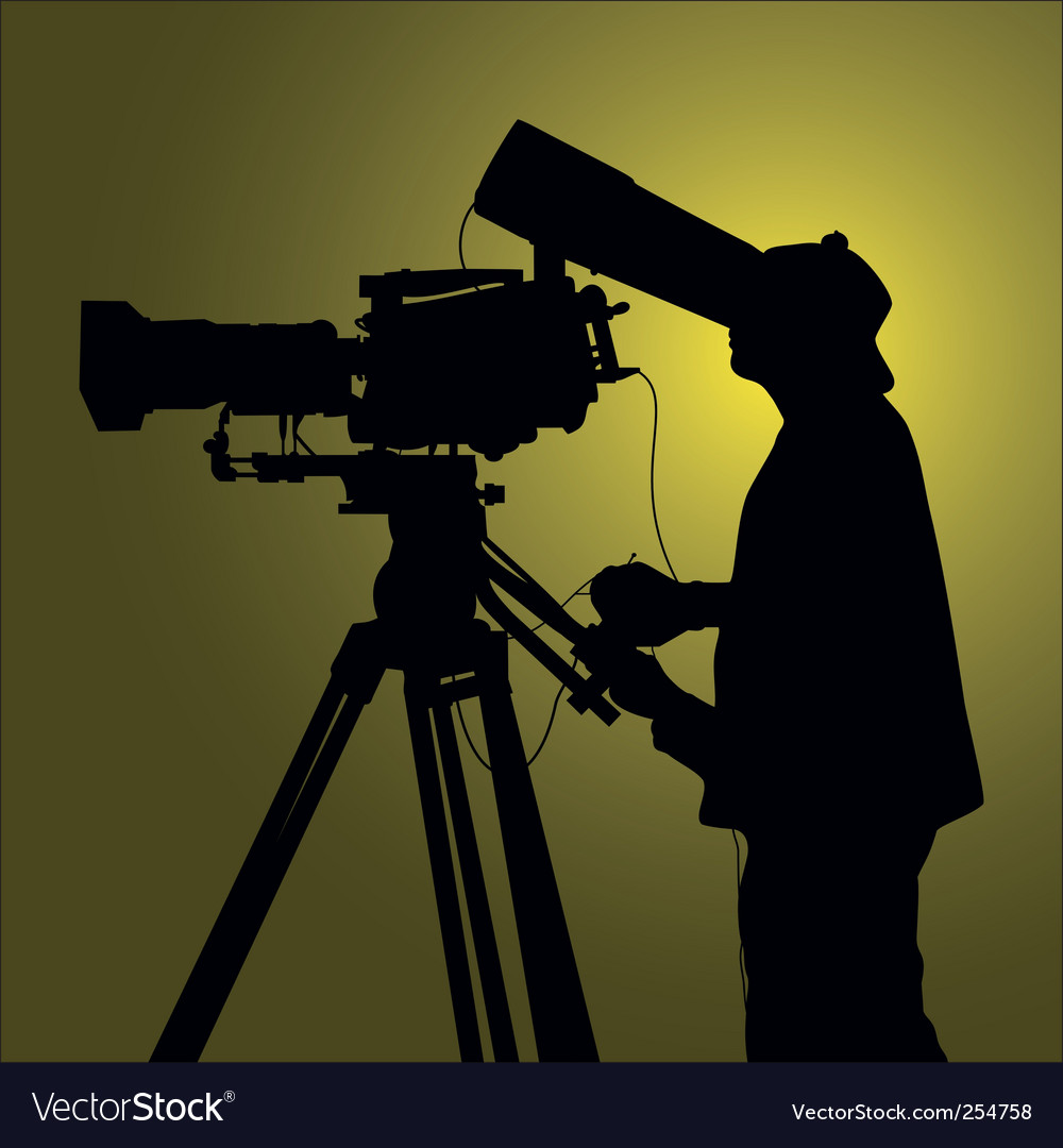Cameraman vector | Price: 1 Credit (USD $1)