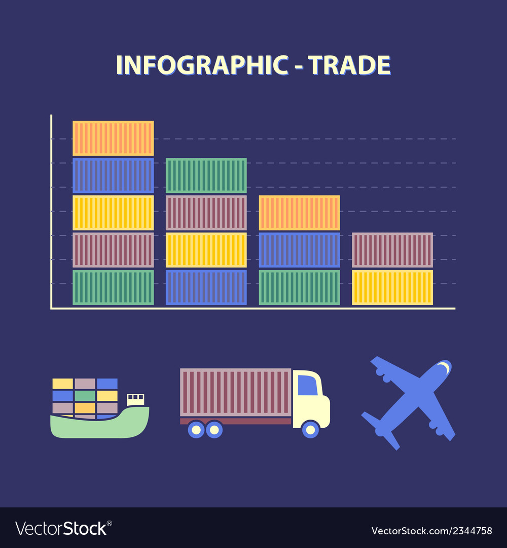 Decline global trade vector | Price: 1 Credit (USD $1)
