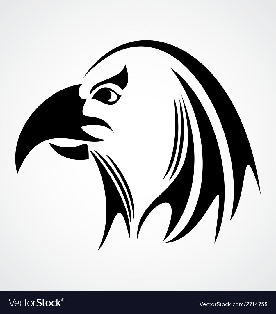 Eagle head tribal vector | Price: 1 Credit (USD $1)
