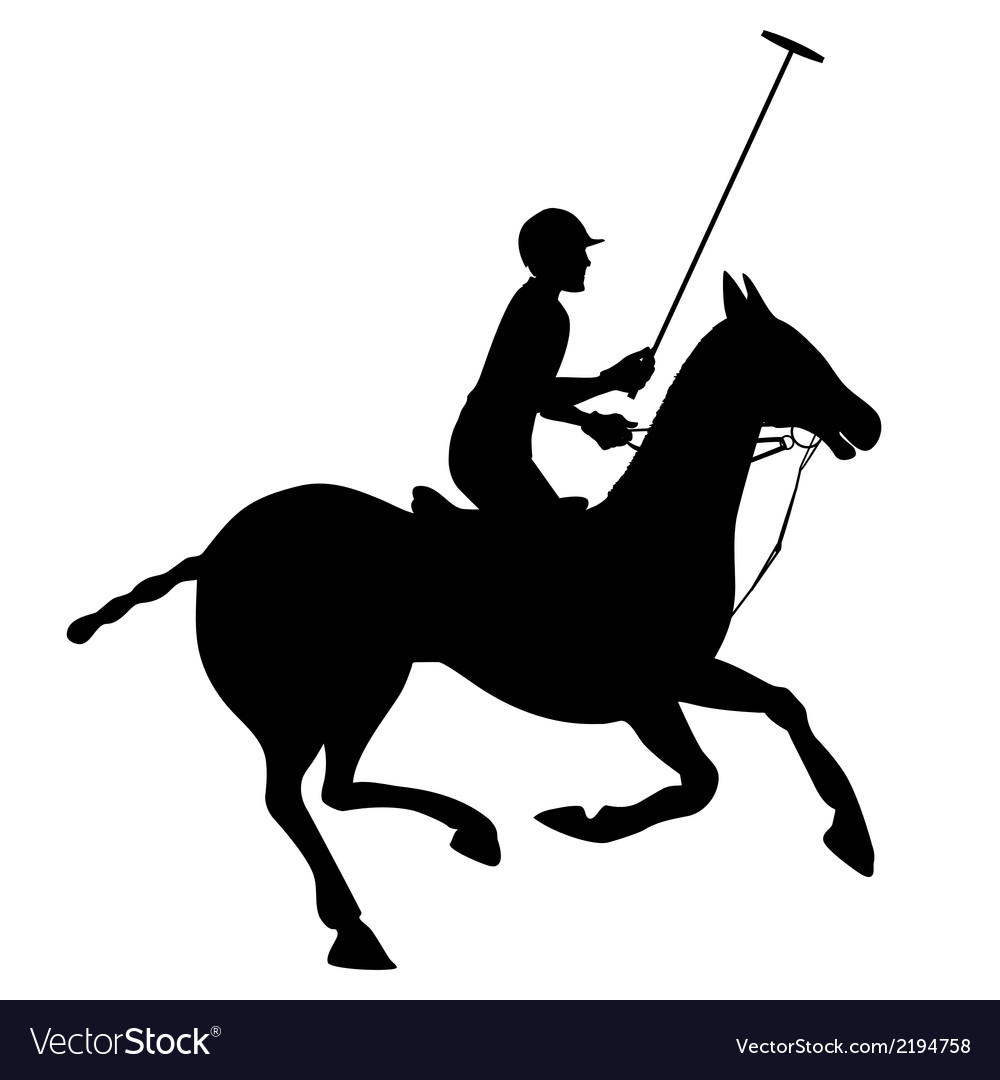 Horse polo silhouette poster vector | Price: 1 Credit (USD $1)