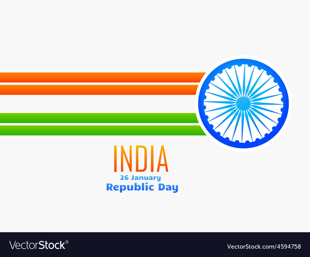 Indian republic day design made with line and vector | Price: 1 Credit (USD $1)