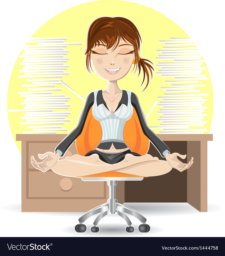 Meditation at the office vector | Price: 3 Credit (USD $3)