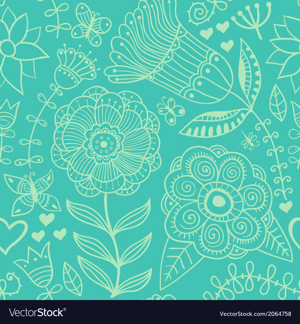 Ornate floral seamless texture endless pattern vector | Price: 1 Credit (USD $1)