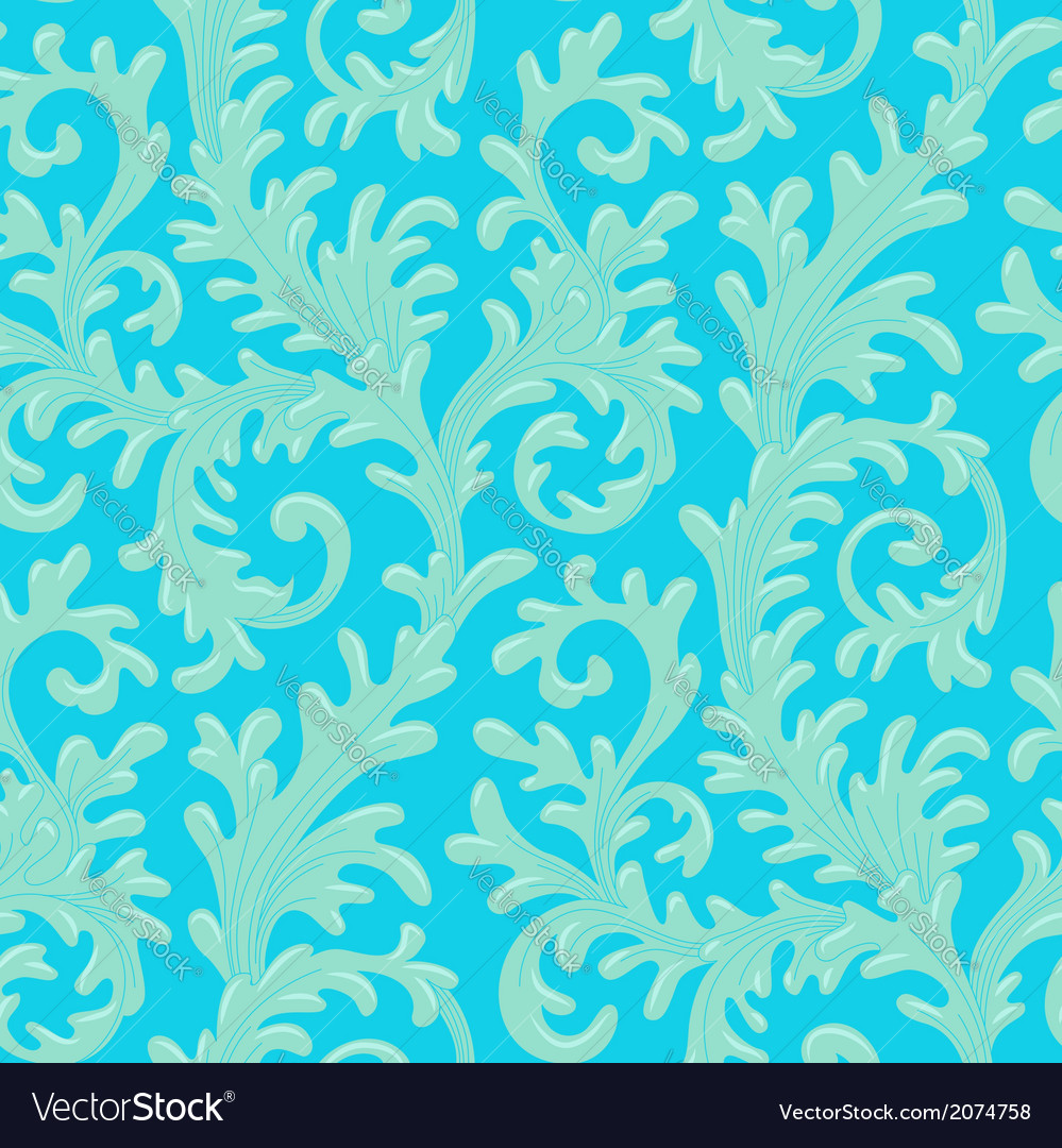 Pattern baroque blue vector | Price: 1 Credit (USD $1)