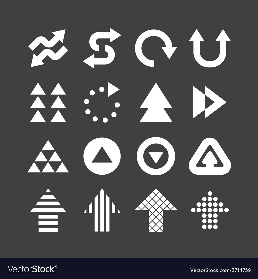 Arrow icons set design vector | Price: 1 Credit (USD $1)