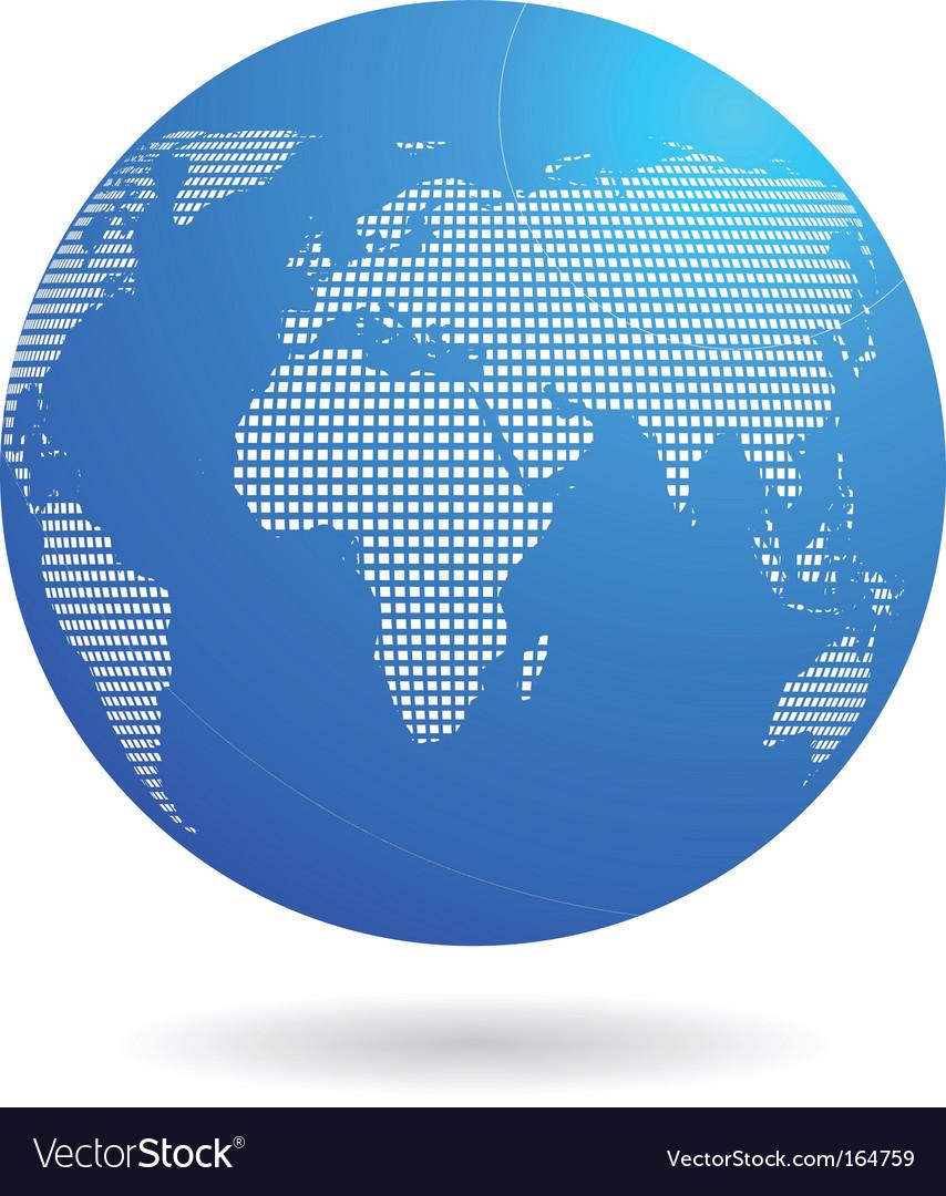 Blue globe vector   Price: 1 Credit (USD $1)