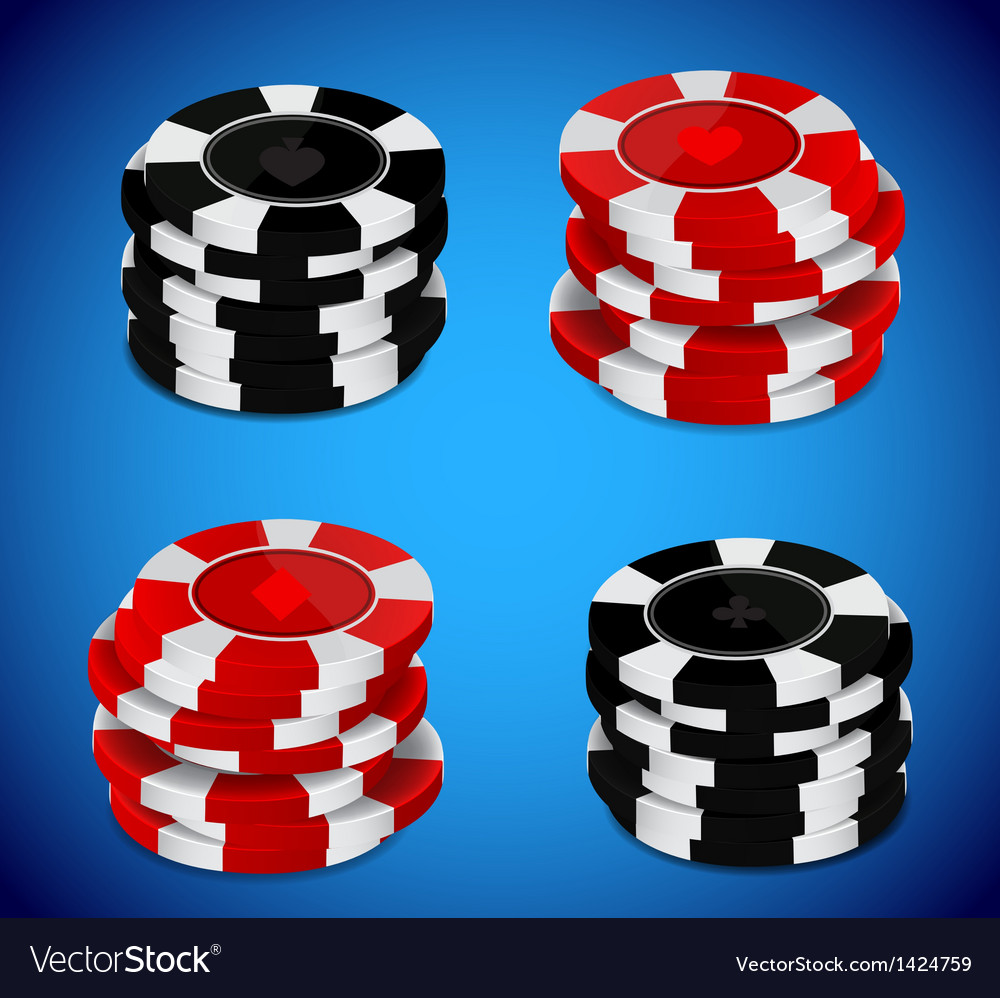 Casino chips stack vector | Price: 1 Credit (USD $1)