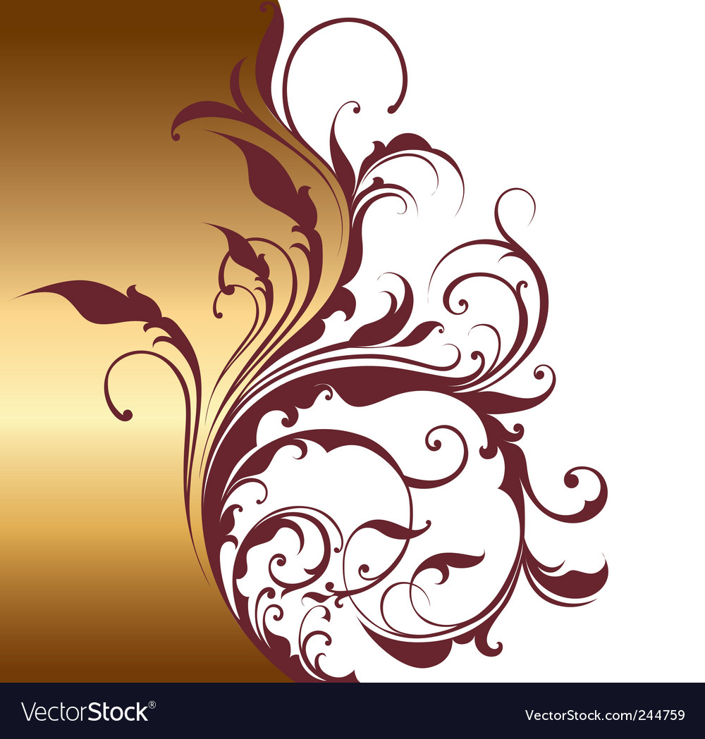 Floral ornament vector | Price: 1 Credit (USD $1)