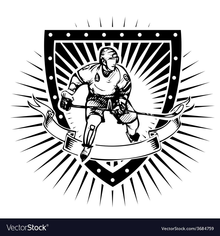 Ice hockey shield vector | Price: 3 Credit (USD $3)