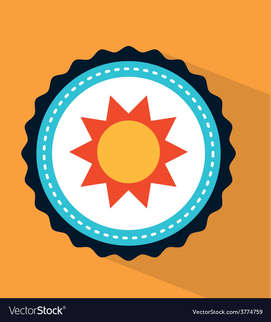 Sun icon design vector | Price: 1 Credit (USD $1)