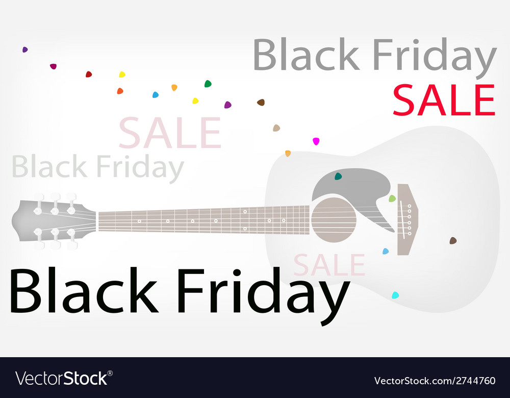 Acoustic guitars background of for black friday vector | Price: 1 Credit (USD $1)