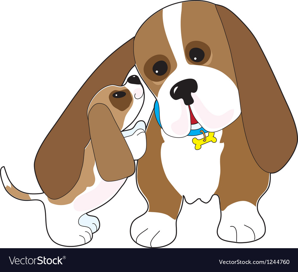 Basset talk dad vector | Price: 1 Credit (USD $1)