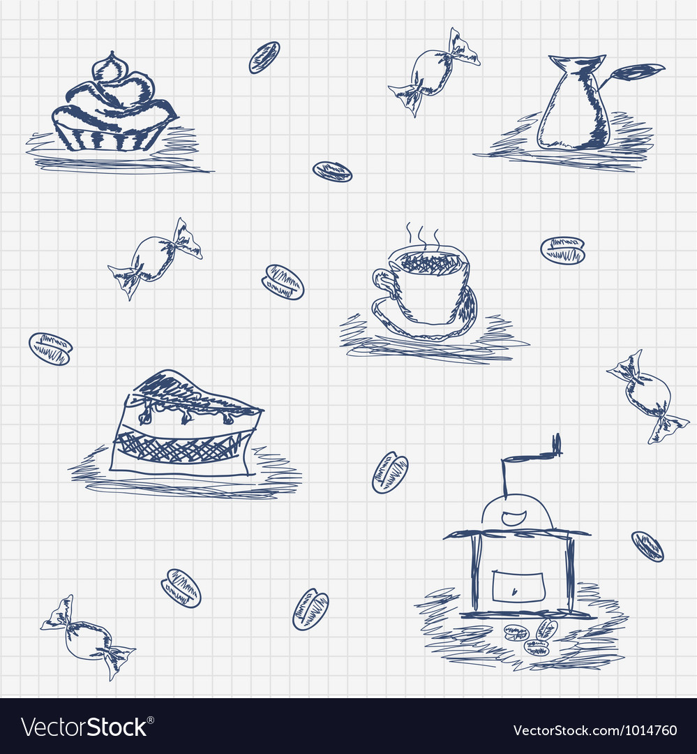 Coffee and candy vector   Price: 1 Credit (USD $1)