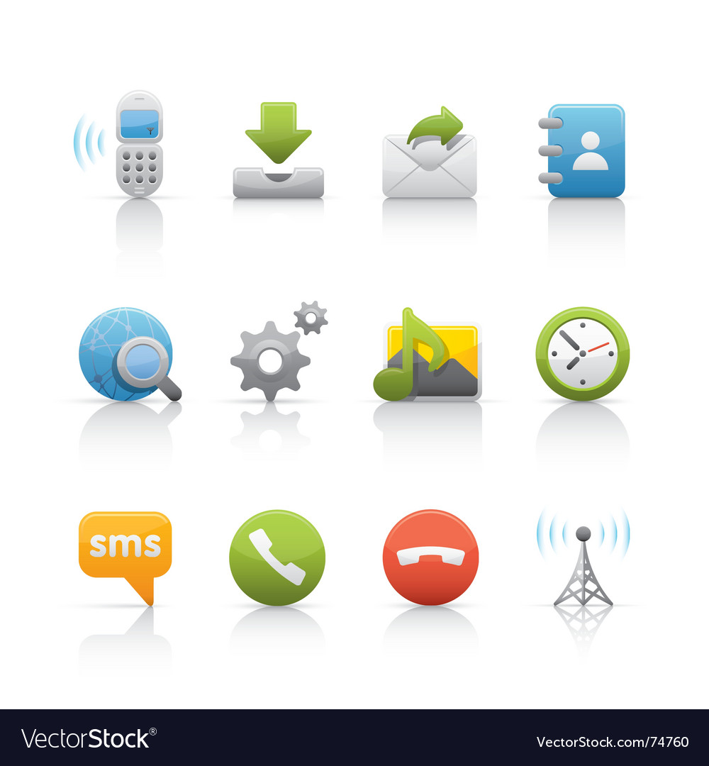 Icon set internet and communications vector   Price: 1 Credit (USD $1)