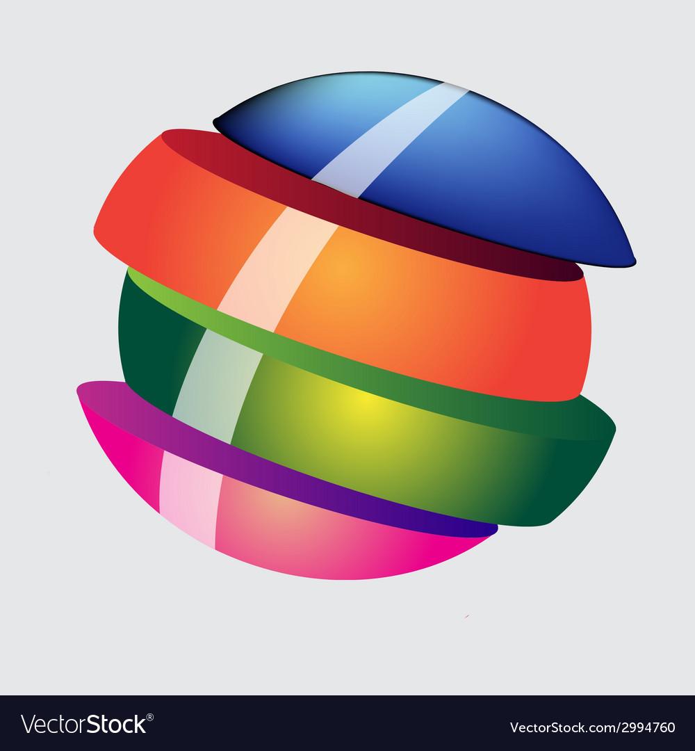 Slice sphere vector | Price: 1 Credit (USD $1)