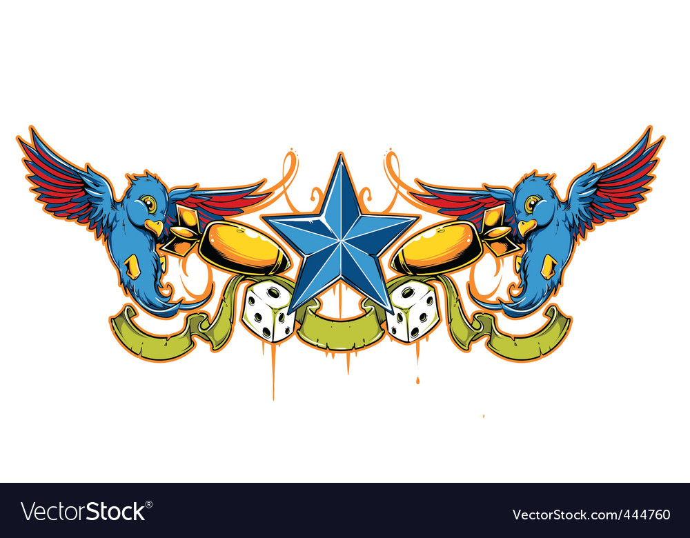 Swallow tattoo vector | Price: 3 Credit (USD $3)