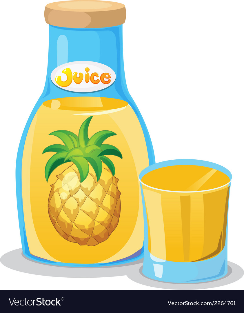 A bottle of pineapple juice vector | Price: 1 Credit (USD $1)
