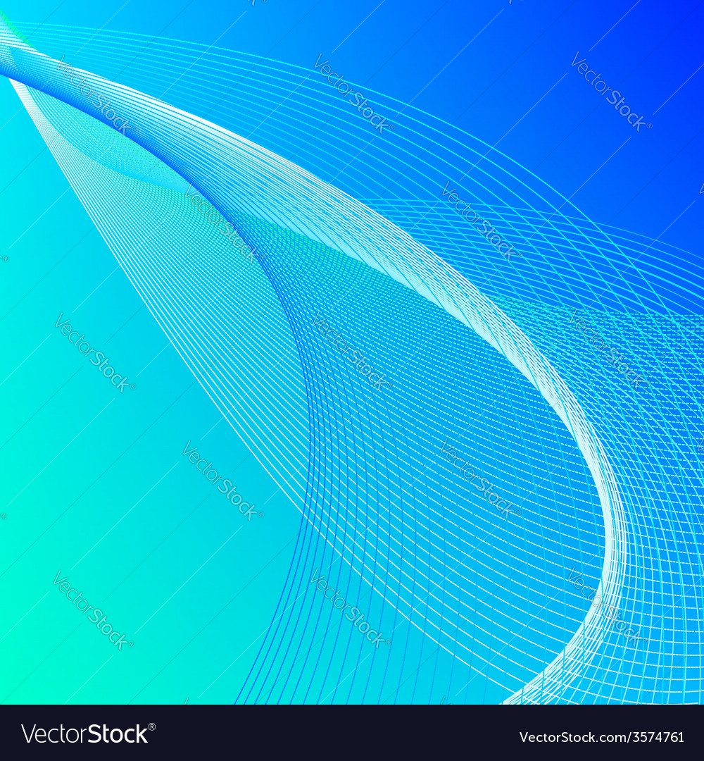 Abstract background with blue and green lines vector | Price: 1 Credit (USD $1)