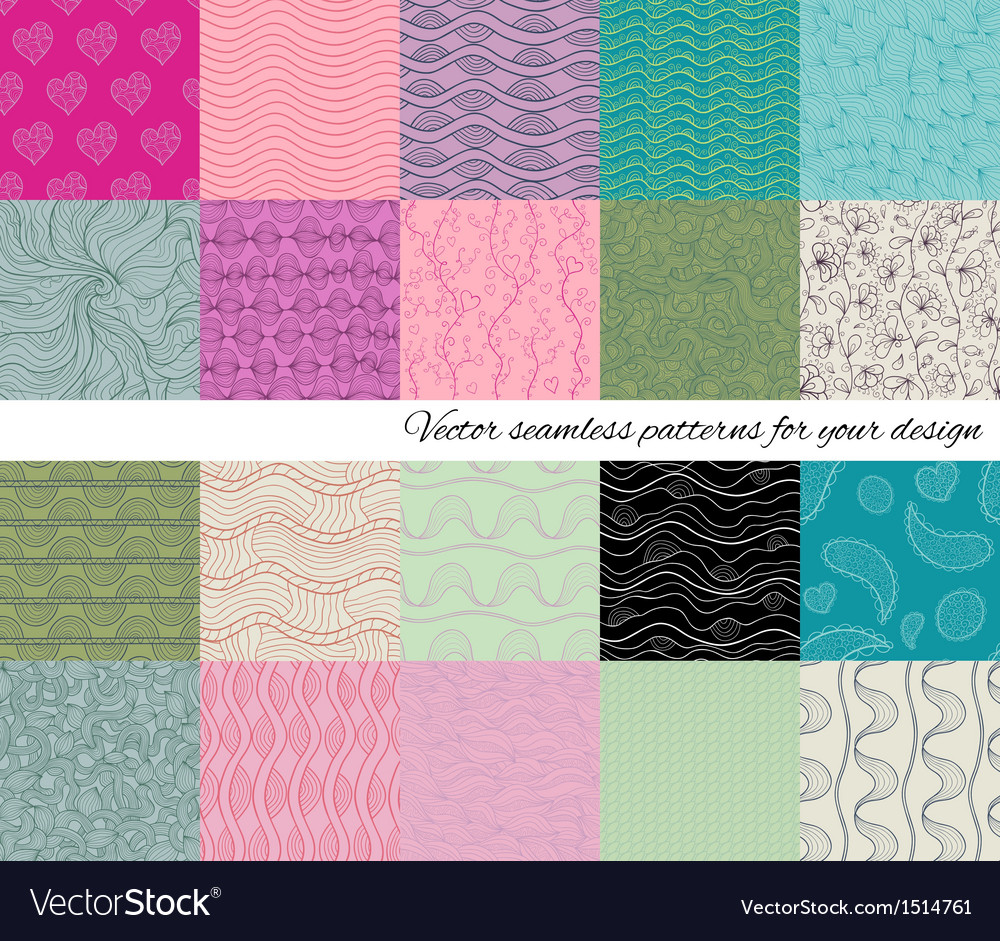 Big collection of abstract seamless patterns vector | Price: 1 Credit (USD $1)