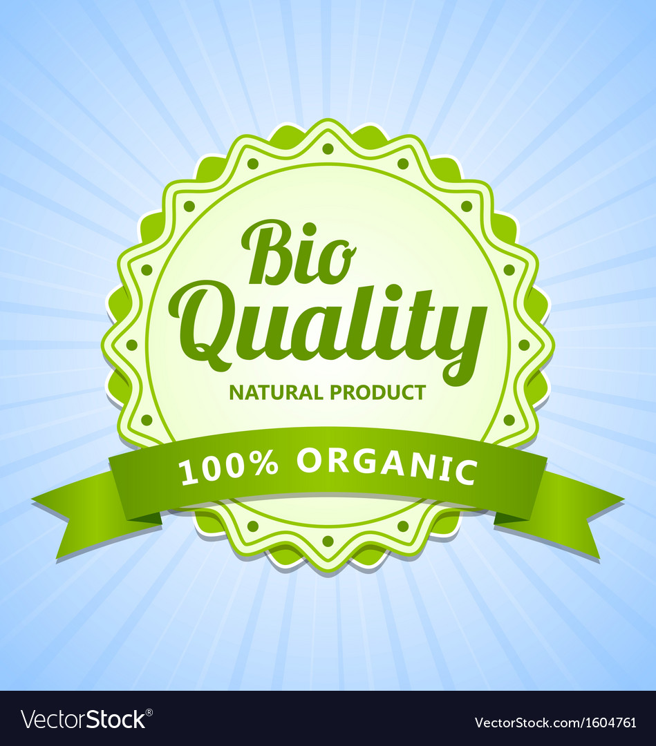 Bio quality label vector | Price: 1 Credit (USD $1)