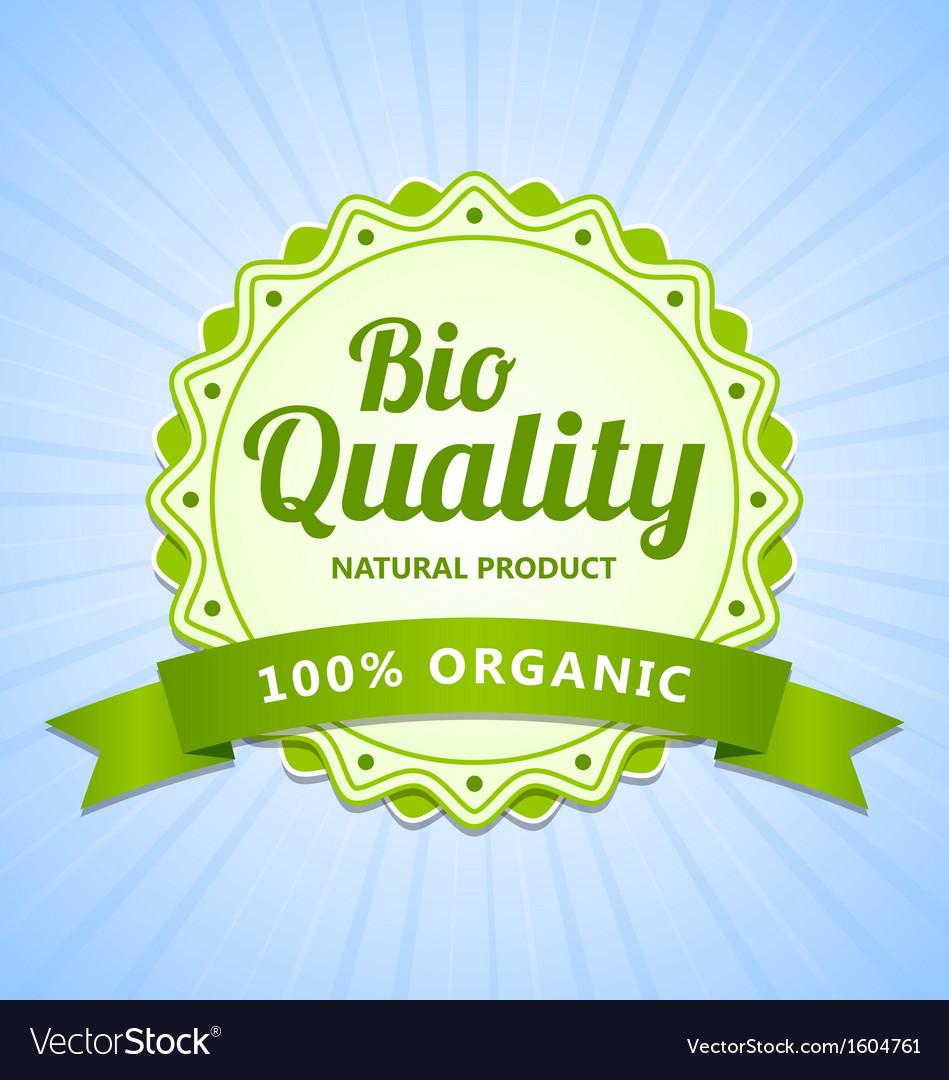 Bio quality label vector | Price: 1 Credit (USD $1)