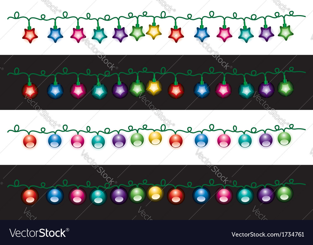 Christmas electric light lamps vector | Price: 1 Credit (USD $1)