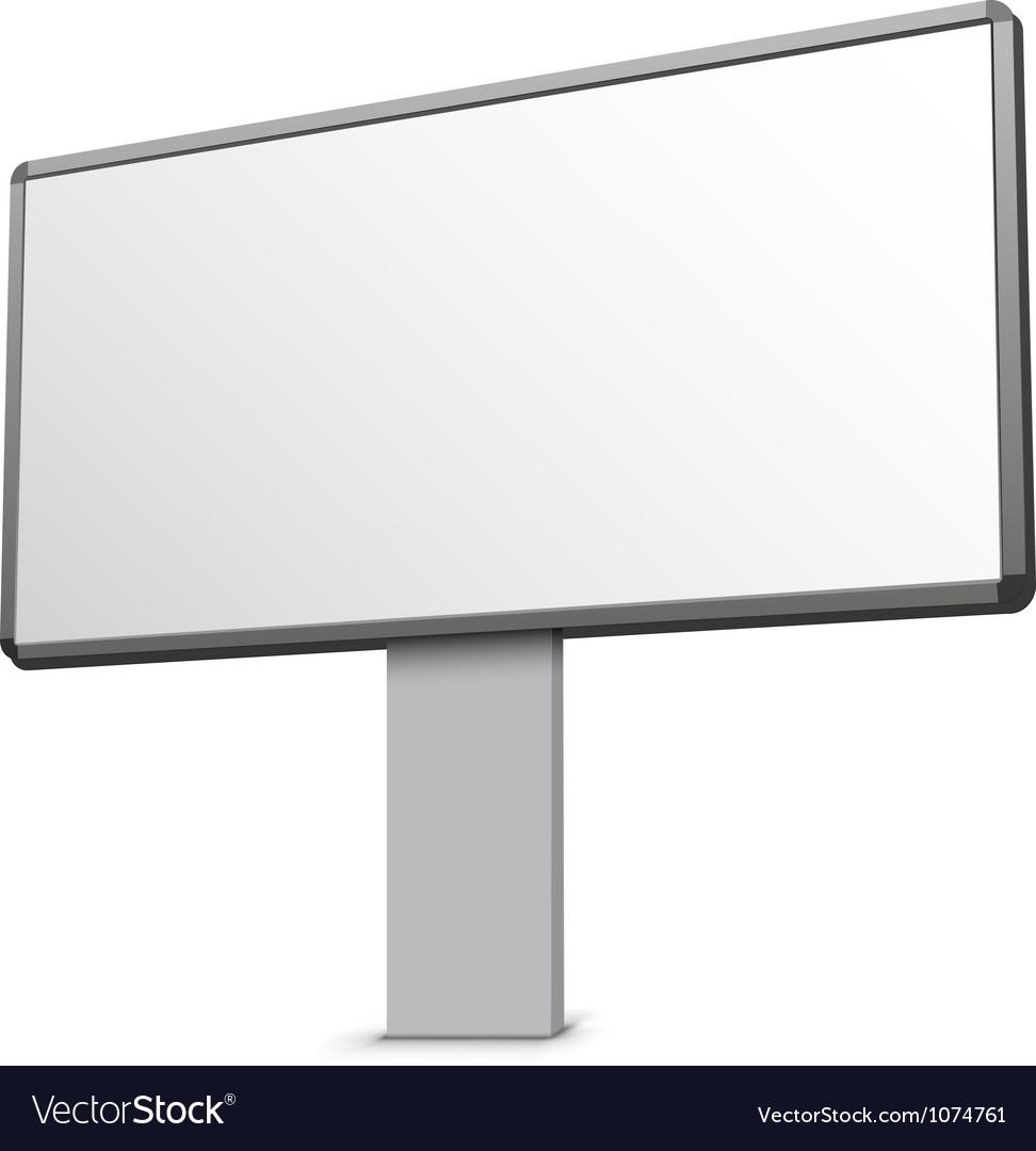 Clean billboard vector | Price: 1 Credit (USD $1)