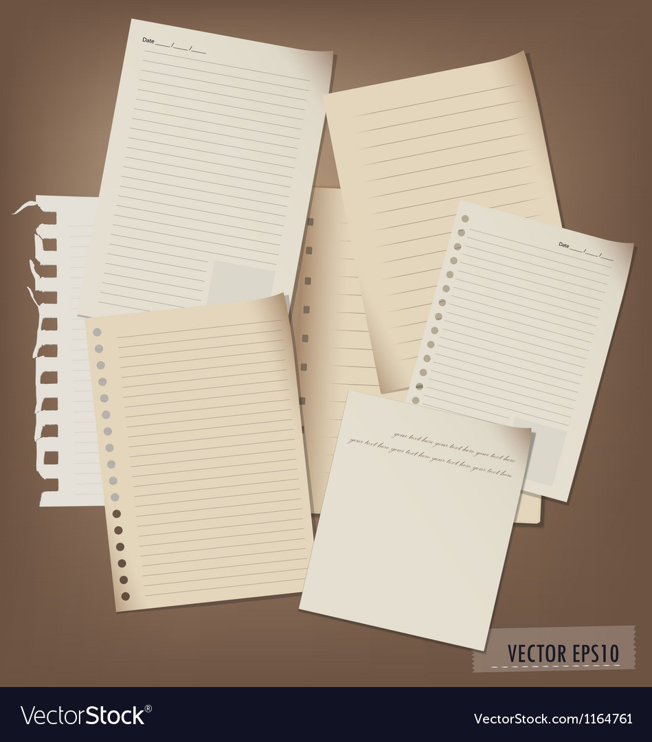 Collection of note papers vector | Price: 3 Credit (USD $3)