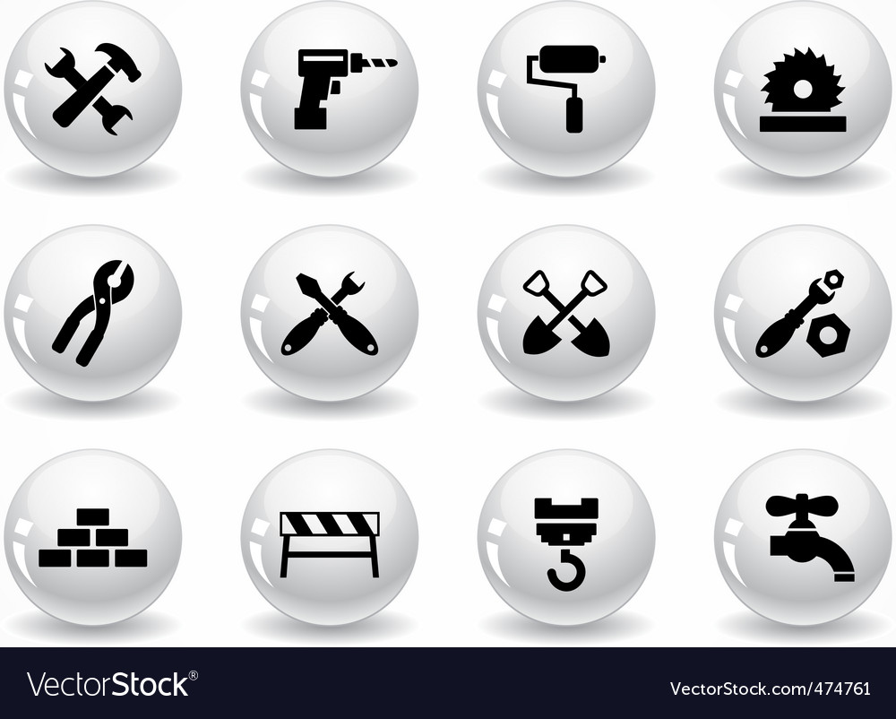 Glossy grey buttons vector | Price: 1 Credit (USD $1)