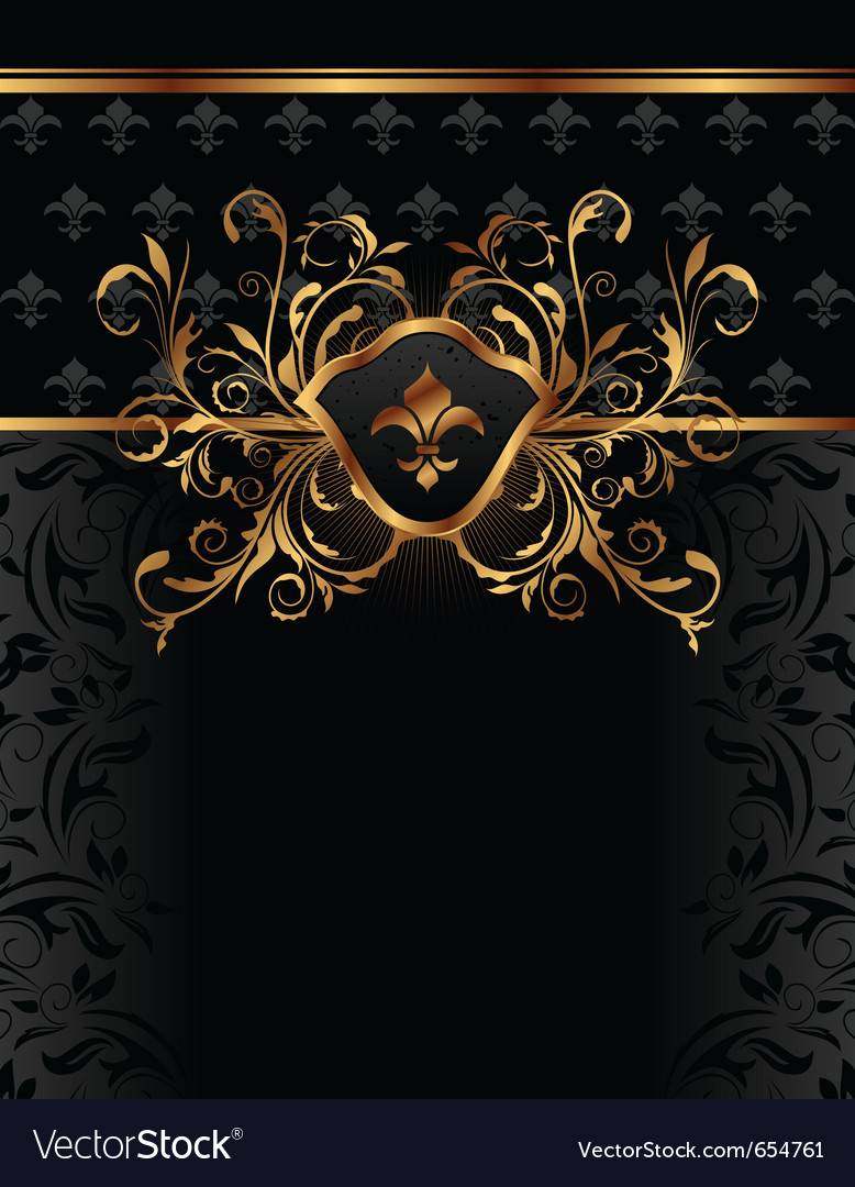Golden ornate frame for design - vector | Price: 1 Credit (USD $1)
