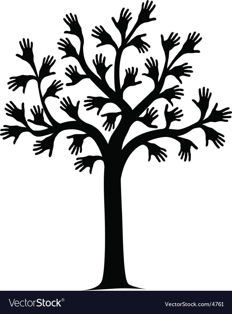 Hand tree vector | Price: 1 Credit (USD $1)