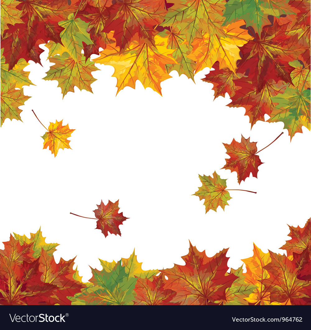Autumn colorful leaves vector | Price: 5 Credit (USD $5)