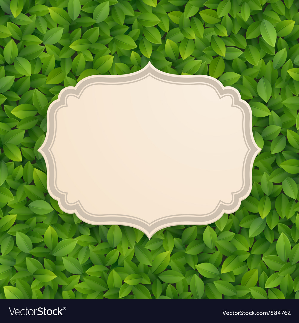 Card in foliage vector | Price: 1 Credit (USD $1)