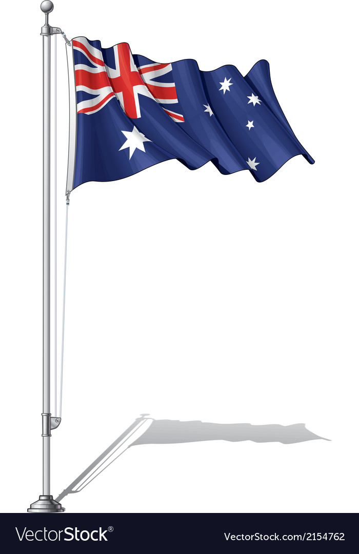 Flag pole australia vector | Price: 1 Credit (USD $1)