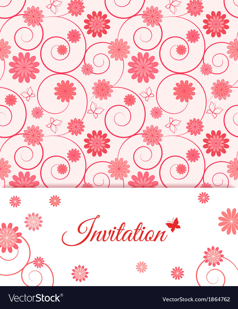 Floral card design for greeting card invitation vector | Price: 1 Credit (USD $1)