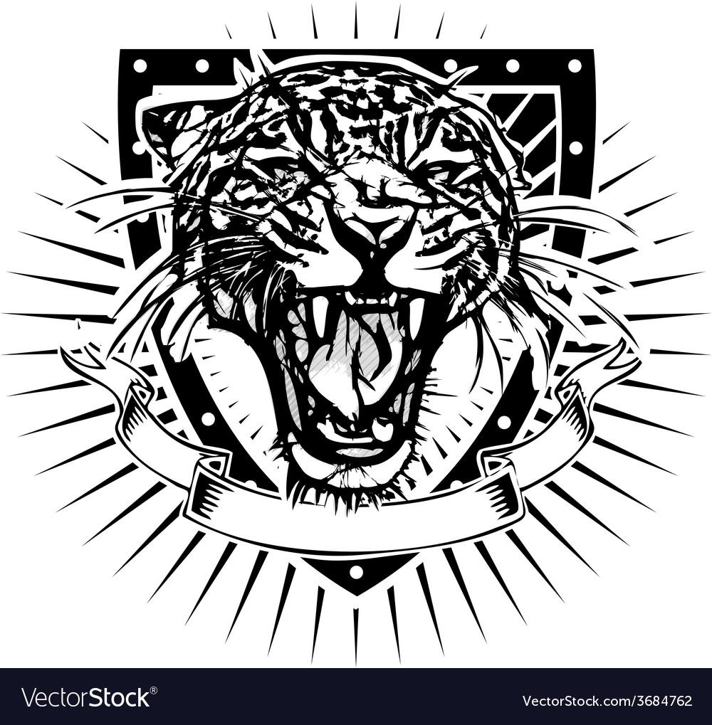 Jaguar shield vector | Price: 3 Credit (USD $3)