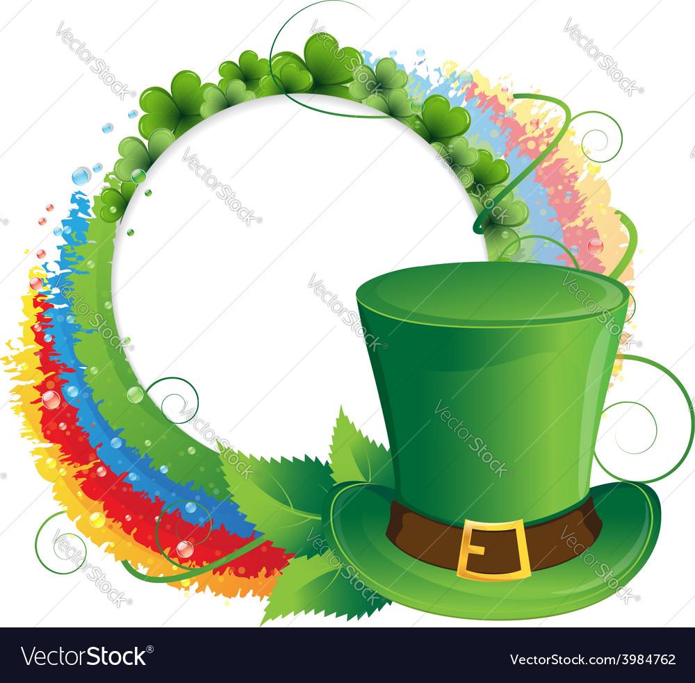Rainbow clover and leprechaun hat vector | Price: 1 Credit (USD $1)