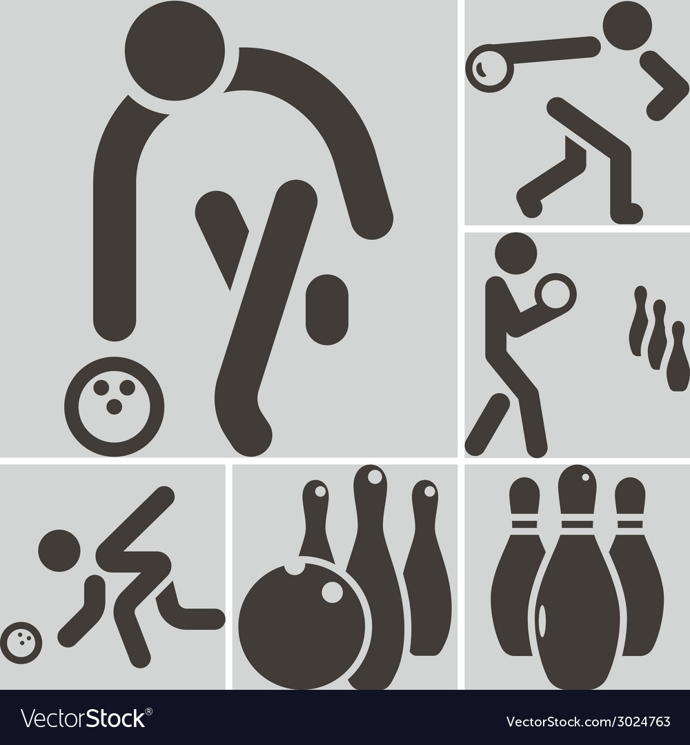 Bowling icons vector | Price: 1 Credit (USD $1)